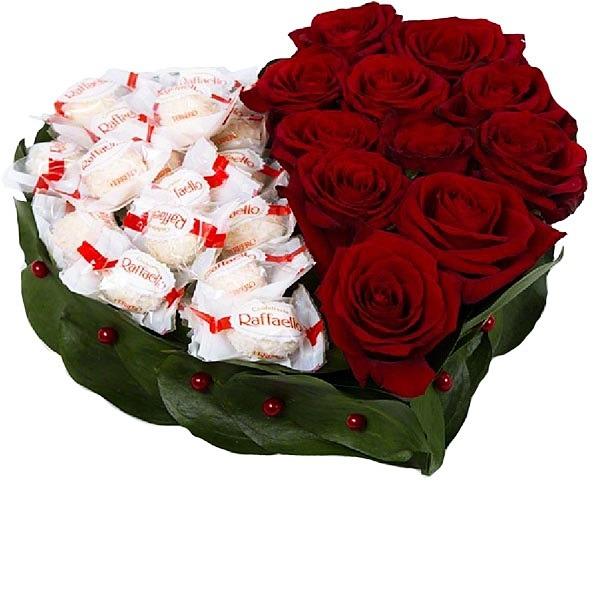 Необычный подарок с цветами 92