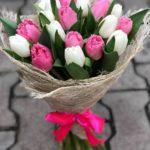 19 тюльпанов, с бесплатной доставкой по Пскову!