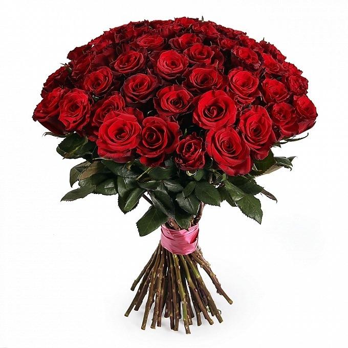 55 розы с доставкой спб, белые розы букет