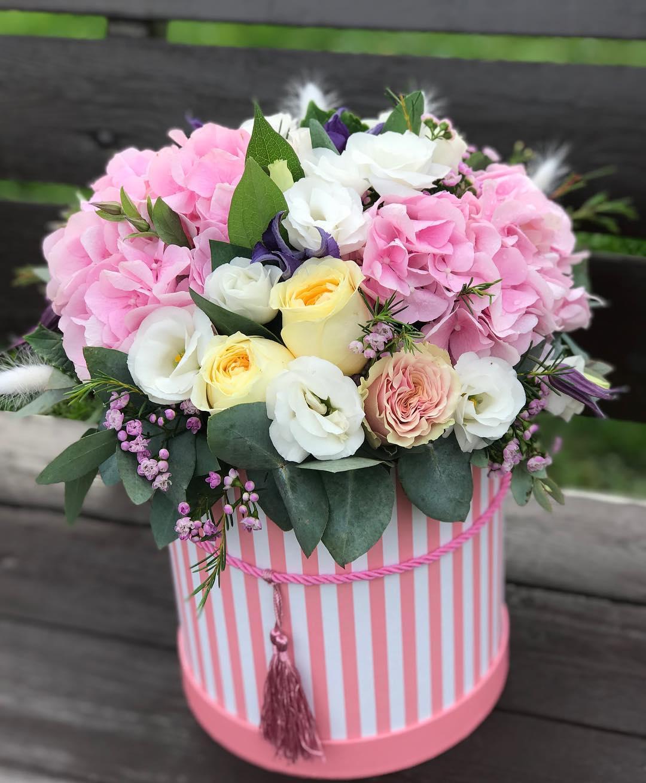 Коробка цветов фото