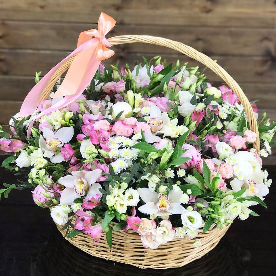 Букет цветов в корзине картинки