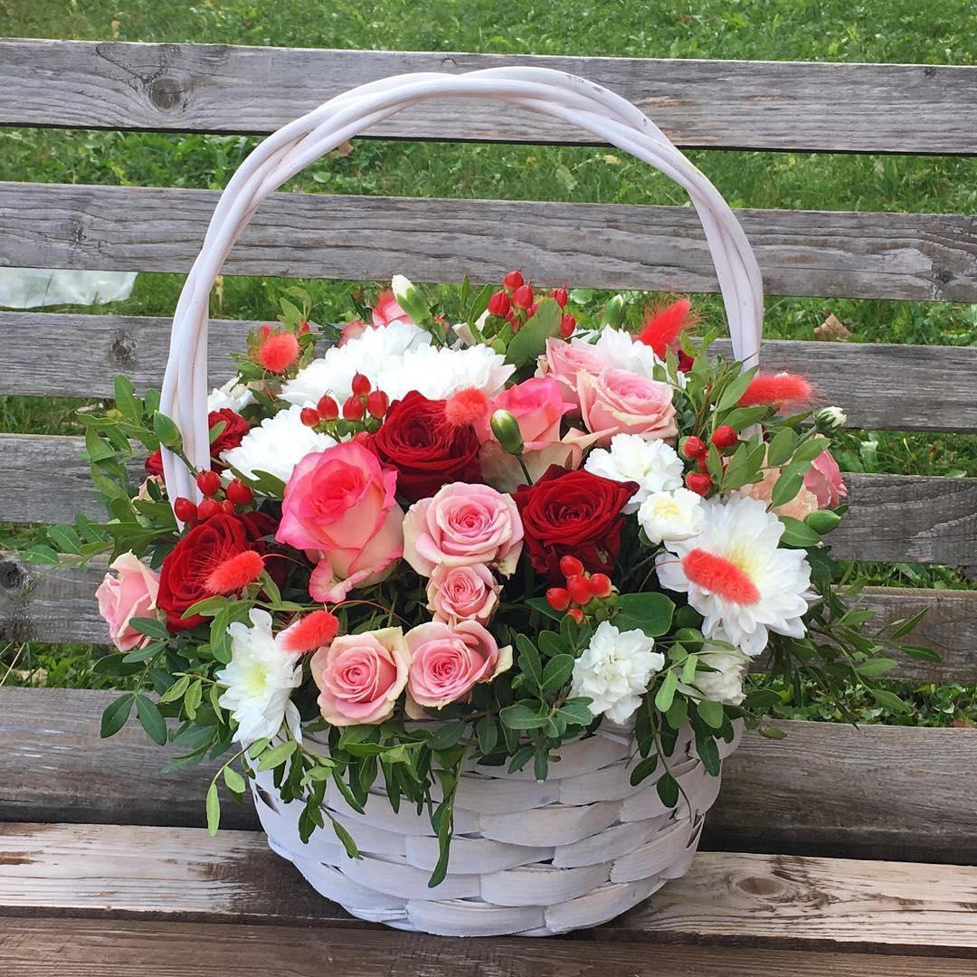 Картинки корзины с цветами красивые