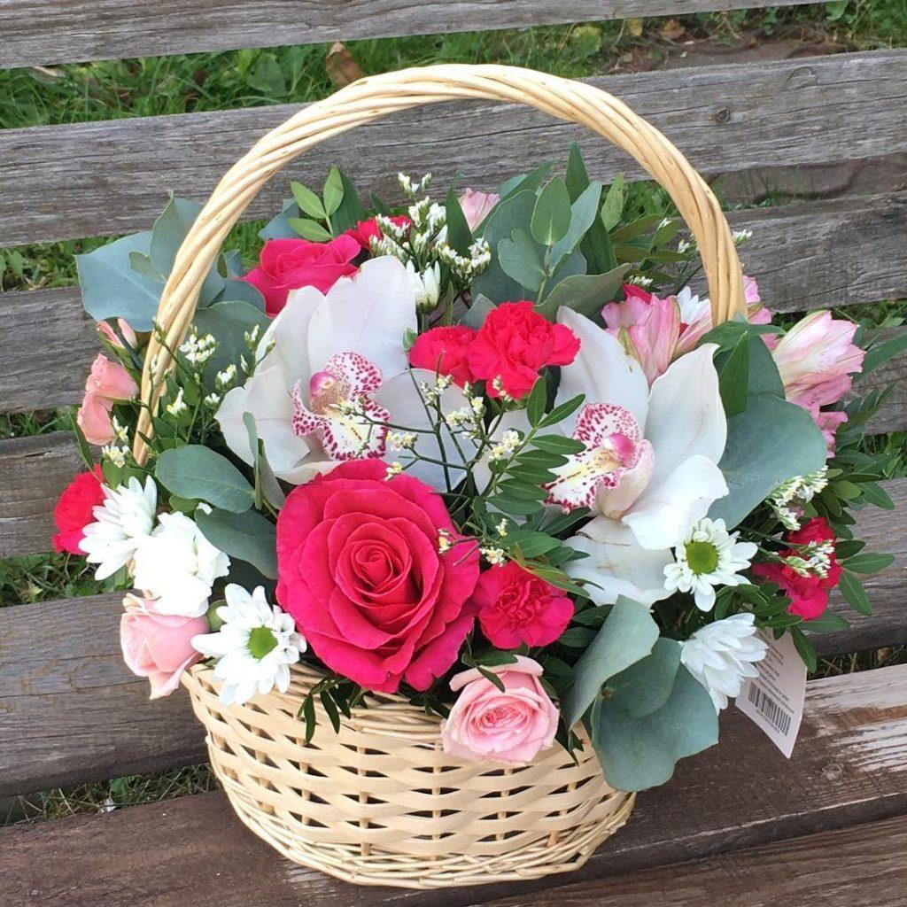 Открытки с цветами в корзине и хорошими успеху